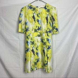 Sister Jane Multicolored Short Sleeve Back Zip A-Line Corporate Dress Size M